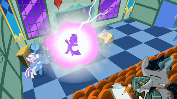 Twilight Sparkle's first brush with magic didn't go so well.