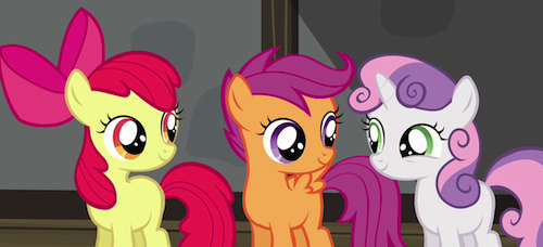 Apple Bloom, Scootaloo, and Sweetie Belle