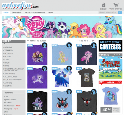 WeLoveFine Storefront