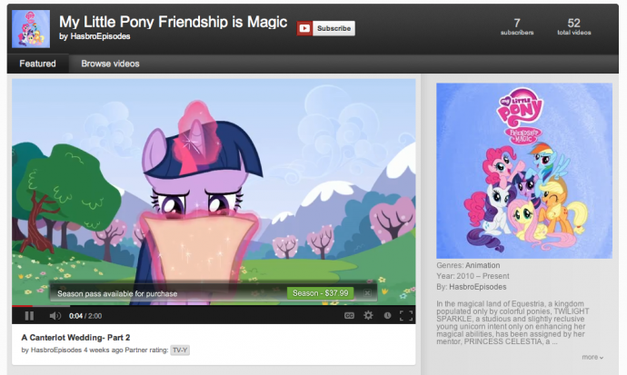 My Little Pony on Youtube? It's more likely than you think.